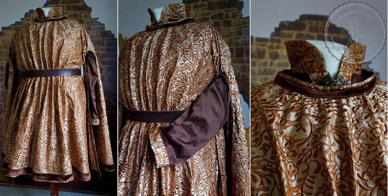 burgundische Robe Burgund Hochzeitgewand