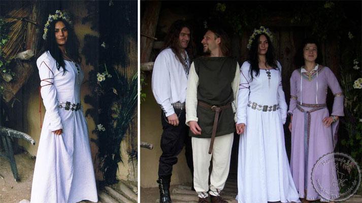 Mittelalterhochzeit, Mittelalterkleid, Gewänder, Brautkleid