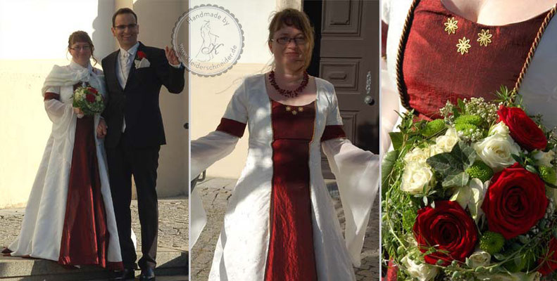 Mittelalterkleid Hochzeitskleid, Mittelaltergewand