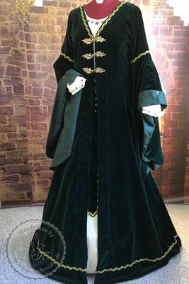 Burggewand, Hochzeitsgewandung, Brautkleid, Mittelalterkleid, mittelalterliche Hochzeit, Mittelaltergewand