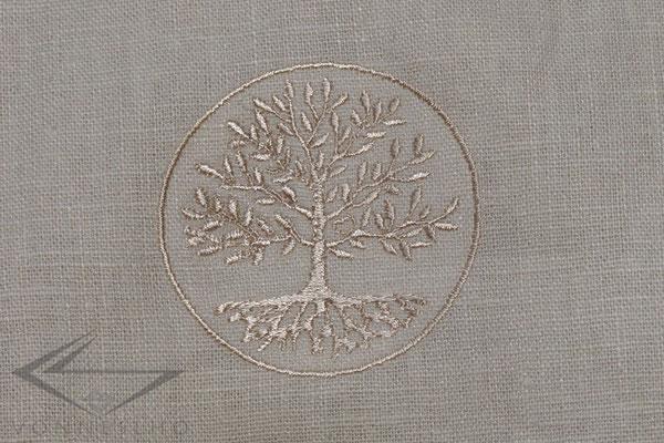 Leinenhemd, Leinentunika mit Stickerei Maßgeschneidert