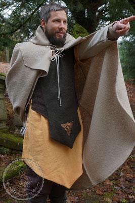 Tasselmantel Druidengewand Druiden Gewand keltisch