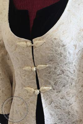 Brautkleid, Hochzeitskleid, Brokatkleid, Brokatmantel, Borkatjacke
