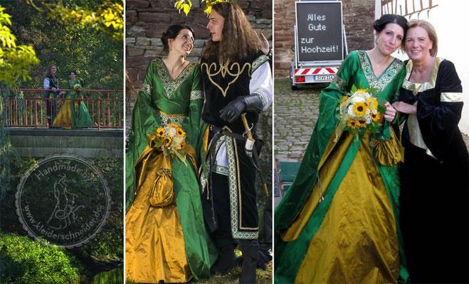 Hochzeitskleid, Brautkleid, Mittelaltergewand, Mittelalterhochzeit