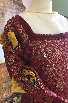 Renaissance Prunkgewand Brokat Wams Hochzeitsgewandung