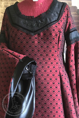 Mittelalterkleid, Brautkleid, Gewandungen historisches Kostüm, Mittelalterhochzeit Gewand