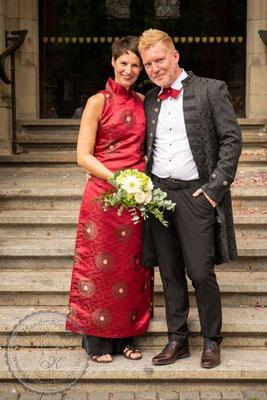 Ao Dai Kleid, klassisch Vietnam Stil, AoDai Hochzeit