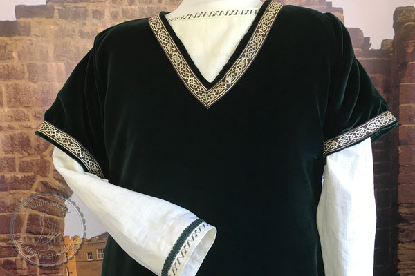 Mittelaltergewand, Burgherren Gewand, Prunkrock, Waffenrock, Wappenrock