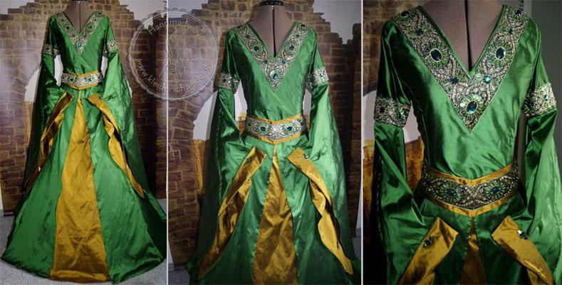 Hochzeitskleid, Brautkleid, Mittelalterklied, Mittelaltergewand