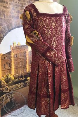 Renaissance Prunkgewand Brokat Wams Hochzeits Gewandung