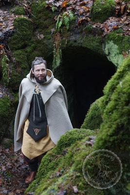 Gewandung Tasselmantel Druidengewand Druiden keltisch