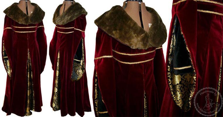 Samt Robe, Mittelaltergewand, Mittelalterkleid, Gewandung