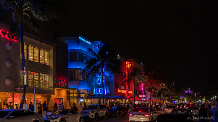 South Beach Art Deco District Miami Nights (Florida) USA
