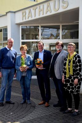 Bürgermeister der Burggemeinde Brüggen, Frank Gellen, begleitet ZAPUH auf dem Weg zum 200 Mitglied