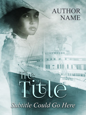 Ebook Premade Cover Nr: SPBC-34799 / 70,- € Titanic Luxusliner vintage retro cover Buchcover romantisch meer ocean voyage historisch historical woman elegant Book Cover Taschenbuch
