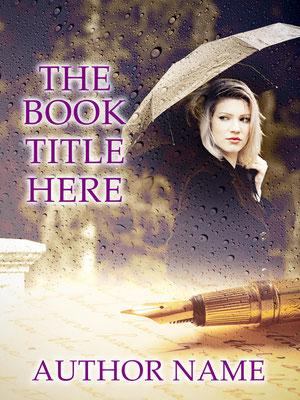 Ebook Premade Cover Nr: SPBC-40545 / 58,- € Regen Rain Regenschirm Frau Brief Letter Premade book cover Buchcover Taschenbuch Novel Roman romantisch literary fiction book cover