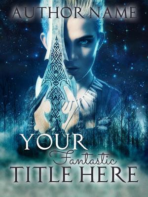 Ebook Premade Cover Nr: SPBC-24463 / 63,- € Fantasy Magie Kriegerin Mystery Woman Schwert Sword Buchcover