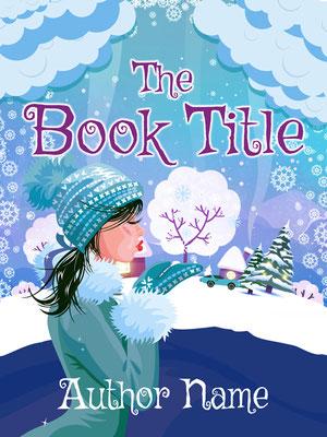 Ebook Premade Cover Nr. SPBC-55087 / 65,- € Illustration Comic Romantisch Buchcover ebook Premade Winter Schnee Mädchen Frau Weihnachten Romance