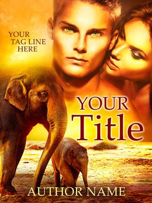 Ebook Premade Cover Nr. SPBC-40547 / 63,- € Paar Lovers Elefant Elephant Africa afrika Buchcover Book cover Premade  roman belletristik novel romantisch