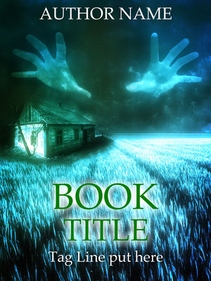 Ebook Premade Cover Nr. SPBC-30083 / 59,- € Spooky Hands field Horror Mystery ebook Cover Cabin Hütte