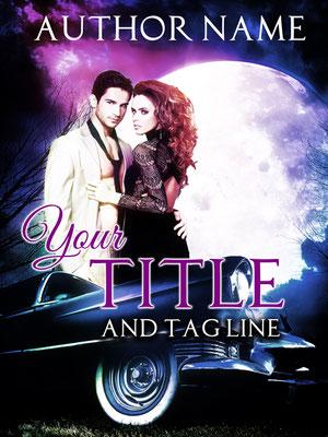 Ebook Premade Cover Nr: SPBC-30097 / 63,- € Pärchen Liebe Oldtimer Mond Romantisch Romance Mystery Buchcover