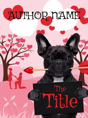 Ebook Premade Cover Nr. SPBC-54297 / 58,- € Hund Liebespaar Bulldogge Romantisches ebook Premade Buch Cover Illustration Herzen Paar