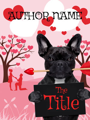 Ebook Premade Cover Nr. SPBC-54297 / 58,- € Hund Liebespaar Bulldogge Romantisches ebook Premade Buch Cover Illustration Herzen Paar