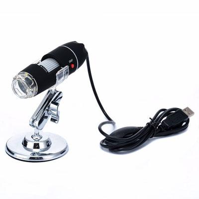 USB-Mikroskop zum Kontrolle der Schallplatten-Oberfläche und -Rillen
