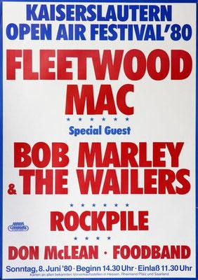 Plakat #2 Rockkonzert Kaiserslautern Betzenberg Stadion 1980
