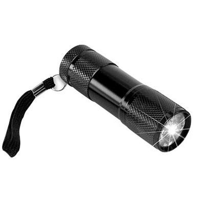 Taschenlampe zur optischen Kontrolle der Plattenoberfläche auf Hairlines und Schmutzpartikel.