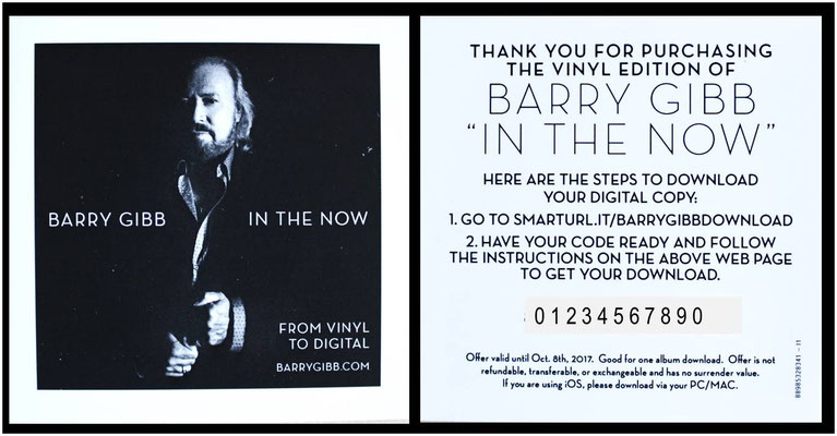 Barry Gibb - In The Now (EU 2016, Columbia - 8898532834)
