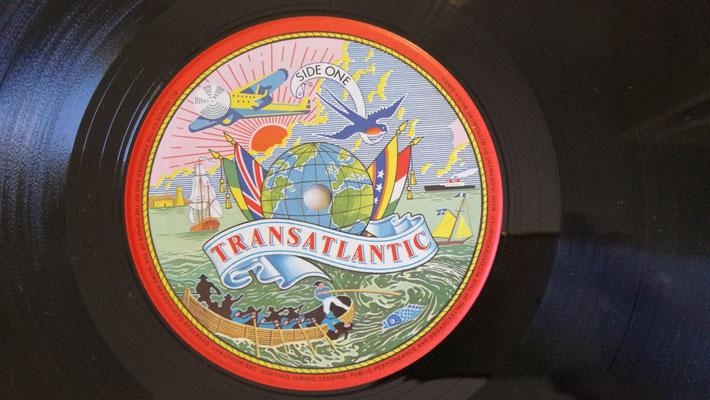 Schallplatten-Etikett (Label): CONTRABAND - CONTRABAND (1st., UK 1974, Transatlantic Records – TRA 278)