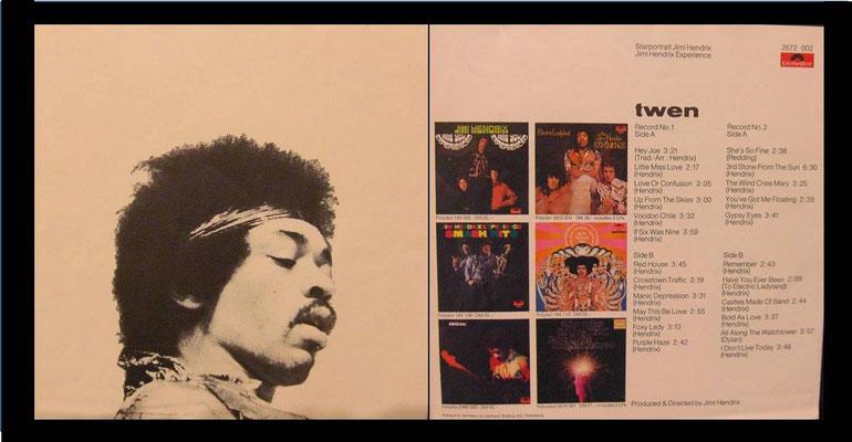 Beilage Starportrait Jimi Hendrix: Vorderseite und Rückseite
