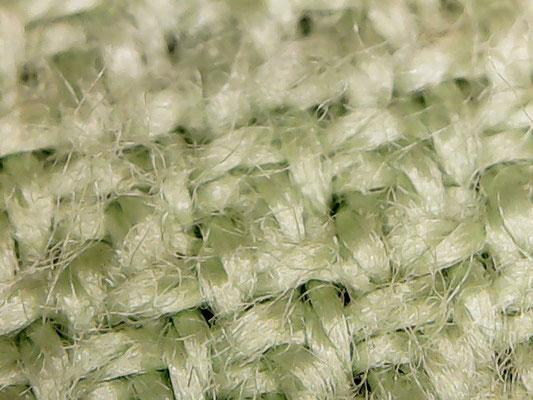 Mikroskop-Aufnahme eines Mikrofasertuchs mit kurzen Fasern