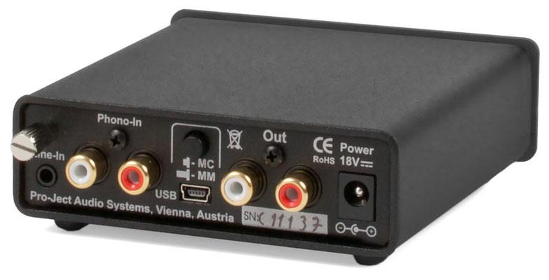 Rückseite - Pro-Ject Phono Box USB  (ca. 165€)
