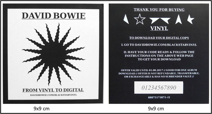 David Bowie - Black Star (UK&EU 2016, RP Celebration Edition, ISO Records ‎- C-139259/AL88875173871)