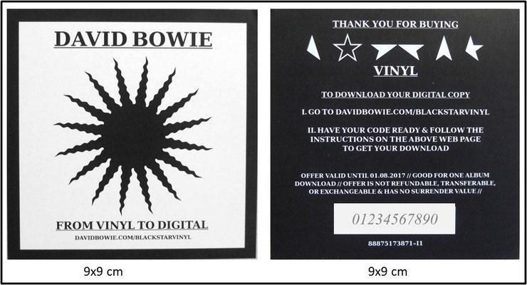 David Bowie - Black Star (UK&EU 2016, RP Celebration Edition, ISO Records - C-139259/AL88875173871)