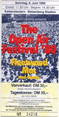 Eintrittskarte von good-vinyl.de Konzert Kaiserslautern Betzenberg Stadion 1980