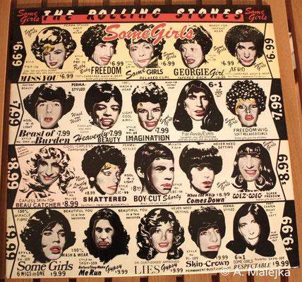 Cover Front mit eingelegter Innenhülle, Rolling Stones - Some Girls (Erstausgabe GER 1978, EMI Electrola / 1C 064-61 016)