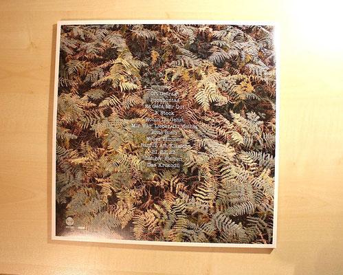 Rückseite des Vinyl-Albums mit der Liste der Album-Titel