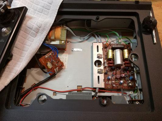 DUAL HS 142: Blick auf die Elektronik (Verstärker-Endstufe)