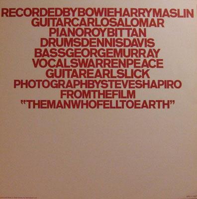 Beiblatt Davide Bowie - Station To Station - (UK 1976, RCA / APLI-1327 STEREO)
