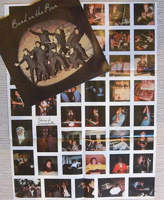 PAUL Mc CARTNEY  & WINGS - BAND ON THE RUN (GER 1973 - EMI ELECTROLA / 1C 064-05 503), Poster 58x69 cm