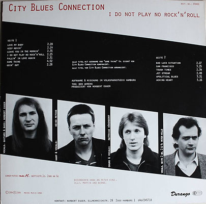 Die Rückseite der veröffentlichen Originalausgabe (GER 1984, Durango - 250 401)