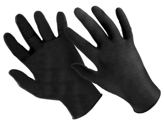 Schutzhandschuhe zrur Vermeidung von Fingerabdrücken beim Reinigen der LPs