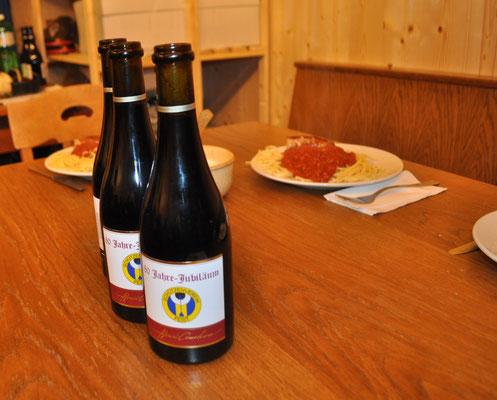 Spaghetti und einem guten Glas Wein...