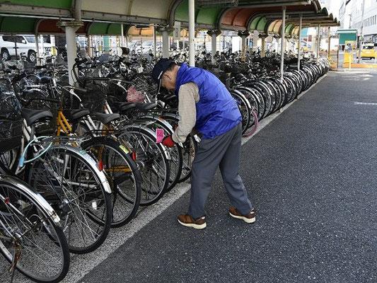 自転車の整理