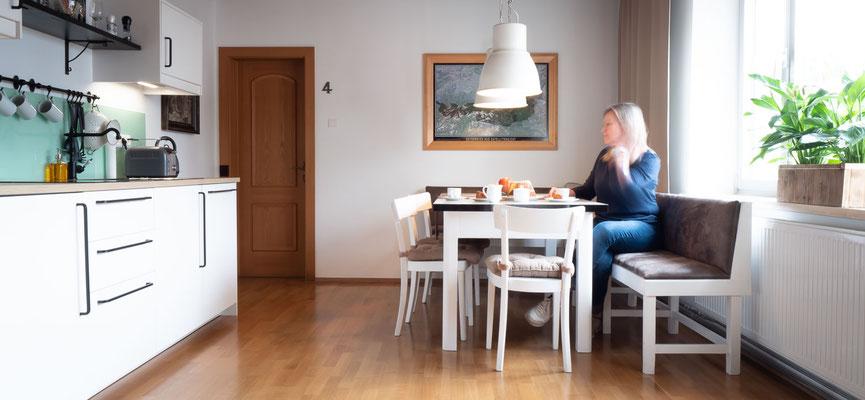 gemütliche Wohnküche Gästezimmer