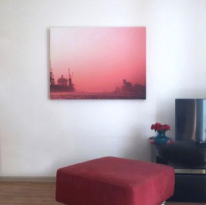 _Winter in rosé_ / red harbor_Hamburg, Elbe. Foto (c)Anka Blank