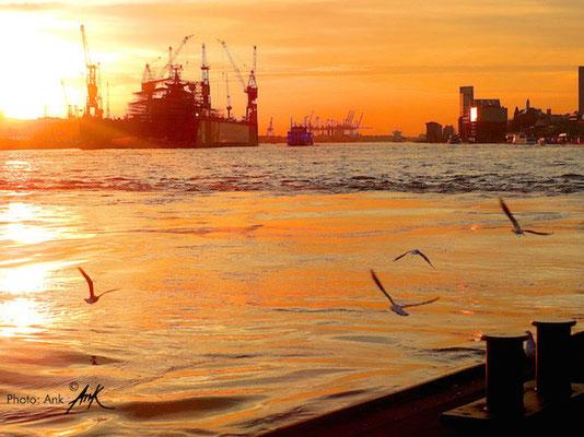 """_sound of water_ Hamburg Landungsbrücken - NDR TV Filmdreh """"Nordtour"""", Foto: (c)Ank 10/2013"""